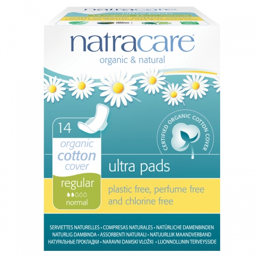Natracare Organic Cotton Cover Ultra Pads 14 Adet - Regular