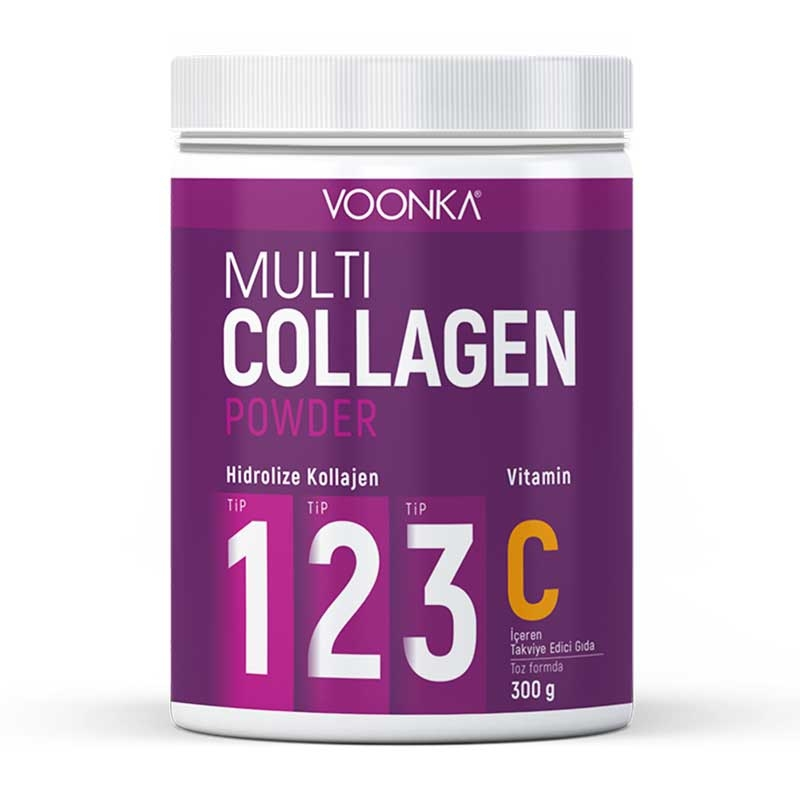 Voonka Multi Collagen Powder Vitamin C İçeren Takviye Edici Gıda 300 gr