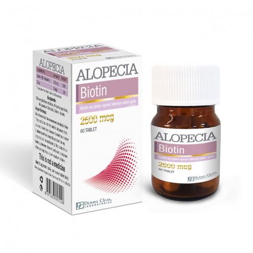 Alopecia Ürünleri - Alopecia Biotin 2500 mcg 60 Tablet