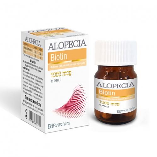 Alopecia Ürünleri - Alopecia Biotin 1000 mcg 60 Tablet