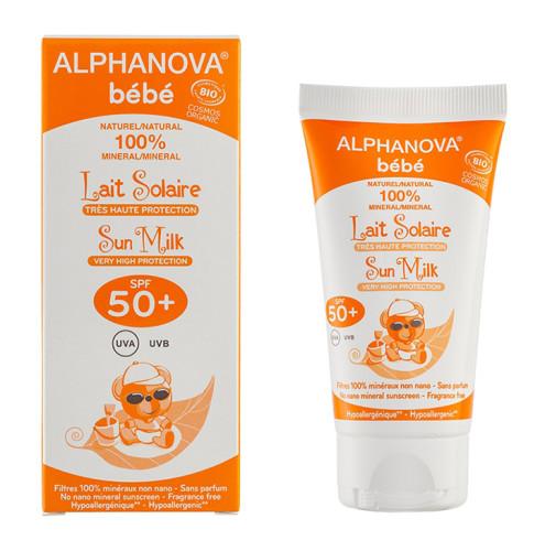Alphanova - Alphanova Bebe Sun Milk Baby SPF 50+ Bio Cosmos 50gr