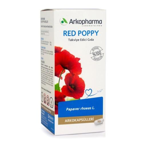 ArkoPharma Bitkisel - Arkopharma Red Poppy (Gelincik) Yaprağı Tozu 90 Kapsül