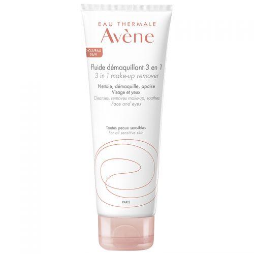 Avene Fluide Demaquillant 3 in 1 Make up Remover 200 ml | Hassas ve Karma Ciltler için Temizleme Losyonu