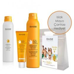 Babe Cilt Bakım Ürünleri - Babe Nemlendirici Global Güneş Bakım Kiti Spray&Go After Sun HEDİYE
