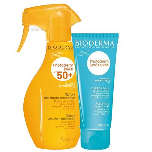 Bioderma Photoderm Max Spray SPF50 400ml | Photoderm After Sun Milk 100ml HEDİYE