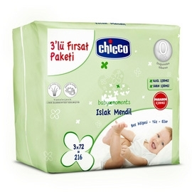 Chicco Baby Moments Islak Mendil 3lü Paket