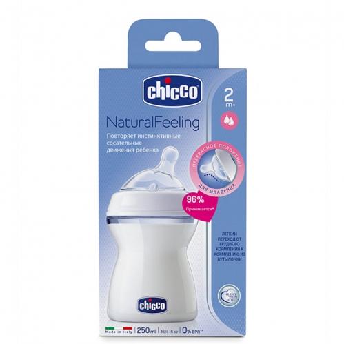 Chicco Natural Feeling 2m+ Biberon 250ml - Thumbnail