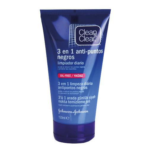 Johnson & Johnson - Clean&Clear 3′ü bir arada temizleme jeli 150 ml