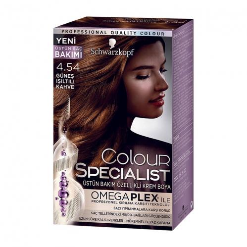 Colour Specialist - Colour Specialist C.Expert 4.54 Güneş Işıltılı Kahve Saç Boyası 60 ml