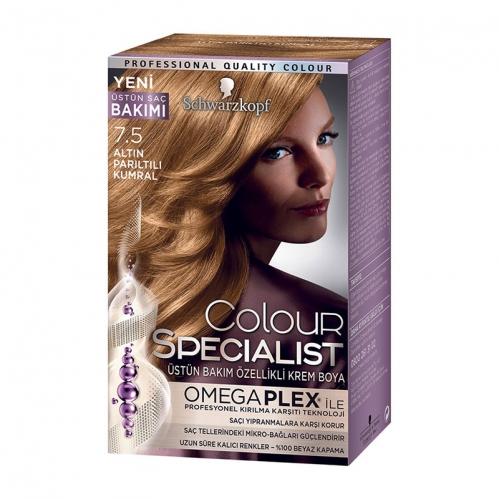 Colour Specialist - Colour Specialist C.Expert 7.5 Altın Parıltılı Kumral Saç Boyası 60 ml