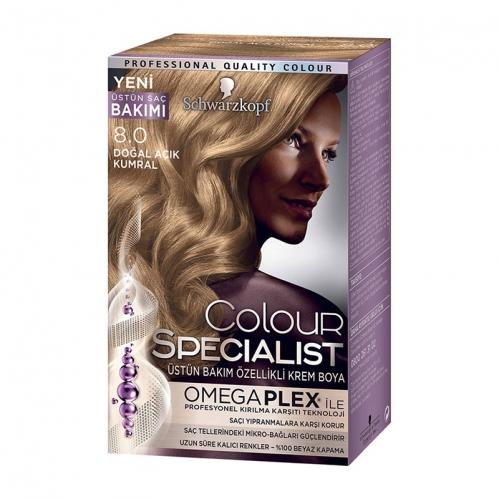 Colour Specialist - Colour Specialist C.Expert 8.0 Doğal Açık Kumral Saç Boyası 60 ml