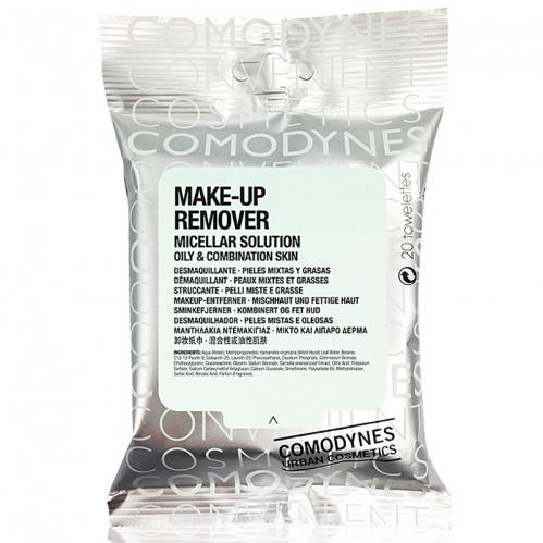 Comodynes - Comodynes Make-up Remover Micellar Solution Temizleme Mendili 20 Adet - Karma ve Yağlı Ciltler