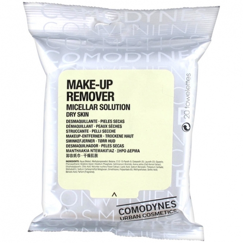 Comodynes - Comodynes Make-up Remover Micellar Solution Temizleme Mendili 20 Adet - Kuru Ciltler