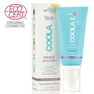 Coola Mineral Face Sunscreen Unscented Spf20 50ml