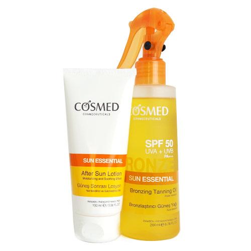 Cosmed Ürünleri - Cosmed Spf50 Bronzing Tanning Oil 200ml Güneş Bakım SETİ