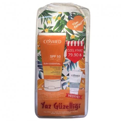 Cosmed Ürünleri - Cosmed Tüm Ciltler için SPF50 Güneş Kremi 75ml Günlük Şampuan 50ml Hediye