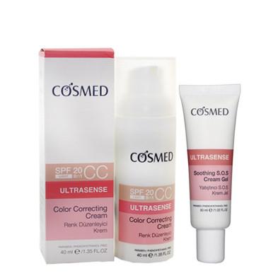Cosmed Ürünleri - Cosmed Ultrasense Kızarıklık Karşıtı Renkli Bakım SETİ
