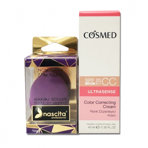 Cosmed Ürünleri - Cosmed Ultrasense Renk Düzenleyici Krem 40 ML Nascita Makyaj Süngeri HEDİYE