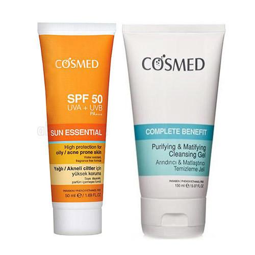 Cosmed Ürünleri - Cosmed Yağlı/Akne Eğilimli Ciltler için Güneş Bakım SETİ