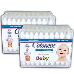 Cotoneve - Cotoneve Emniyetli Bebek Kulak Çubukları 60′lı