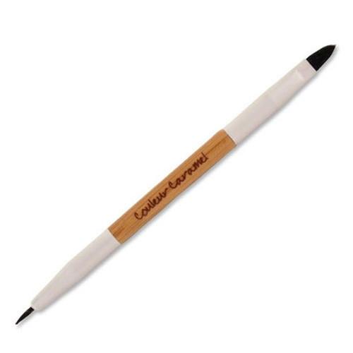 Couleur Caramel Makyaj - Couleur Caramel Lip Eye Liner Dual Tip Brush