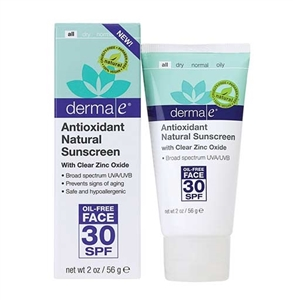 Derma E Antioxidant Natural Sunscreen SPF 30 Oil-Free Face Lotion 56gr