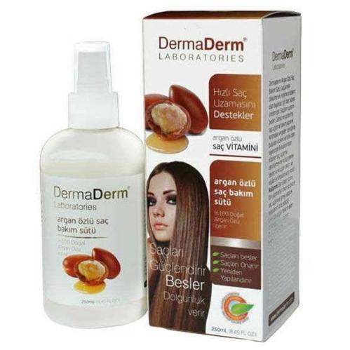 DermaDerm ürünleri - DermaDerm Argan Özlü Saç Bakım Sütü 250ML