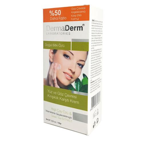 DermaDerm ürünleri - DermaDerm Yüz ve Göz çevresi Kırışıklık Karşıtı Krem 50mg