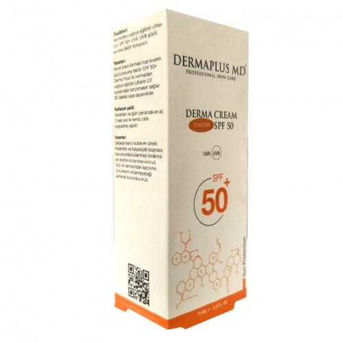 DermaPlus Md Ürünleri - Dermaplus MD Derma Cream Tinted SPF50+ 75ml