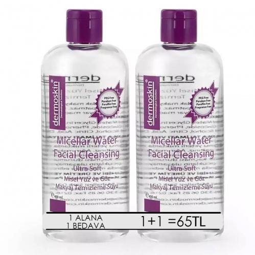Dermoskin - Dermoskin Micellar Water Facial Cleansing 2x400ml