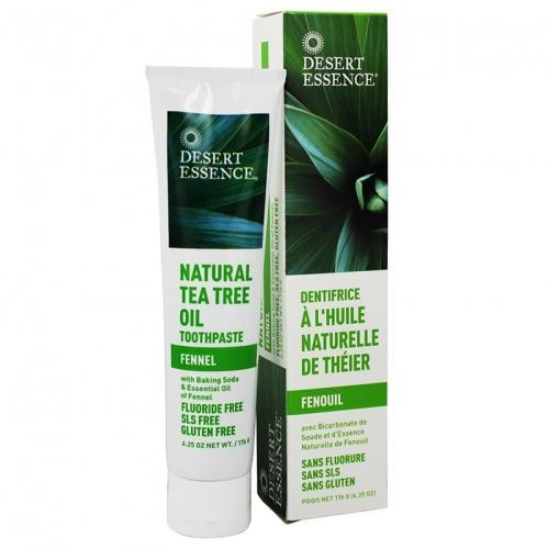 Desert Essence - Desert Essence Tea Tree Oil Toothpaste Fennel 176gr