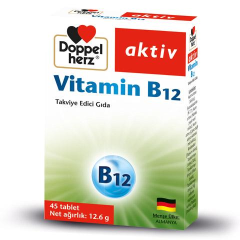 Doppel Herz - Doppel Herz Aktiv Vitamin B12 45 Tablet