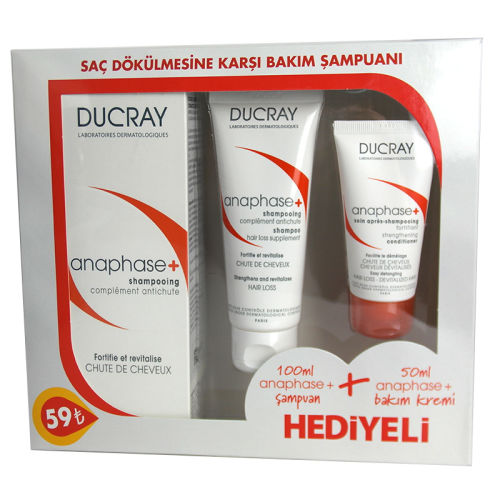 Ducray Anaphase Plus+ Şampuan 200ml+ Anaphase Plus+ Şampuan100ml+Krem50ml