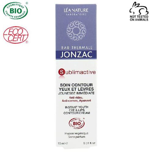 Eau Thermale Jonzac - Eau Thermale Jonzac Sublimactive Organik Sertifikalı Hipoalerjenik Anti Aging Göz/Dudak Çevresi Krem 15ML