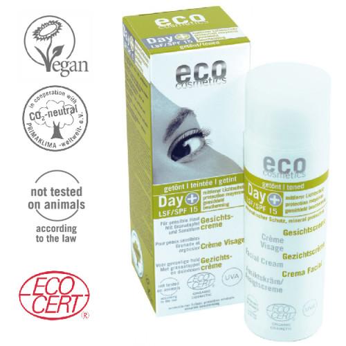 Eco Cosmetics - Eco cosmetics Organik Sertifikalı Spf 15 Nemlendirici Gündüz Kremi 50 ml