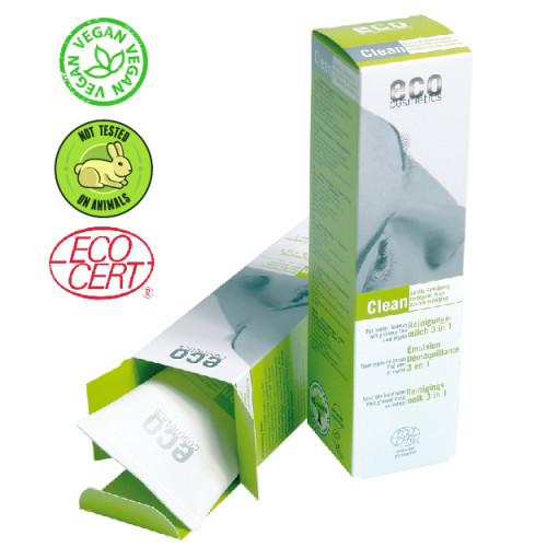 Eco Cosmetics - Eco cosmetics Organik Yeşil Çay ve Mersin Ağacı Özlü Yüz Temizleme Sütü 125 ml