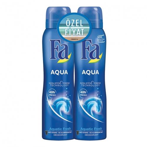 Fa - FA Deodorant Spray Aqua 2′li Kadın Deodorant Seti 150ml+150ml