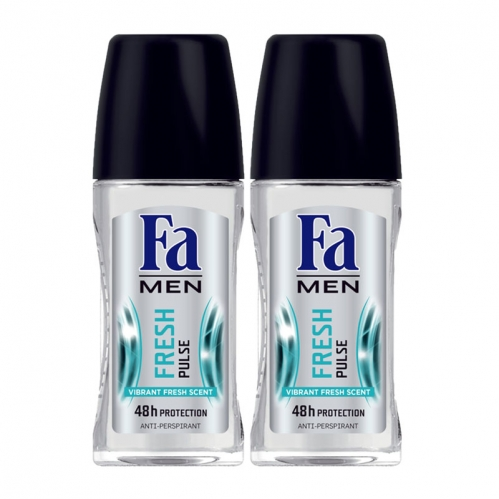 Fa - FA Roll-on 2'li Fresh Pulse Erkek 50 ml+50 ml