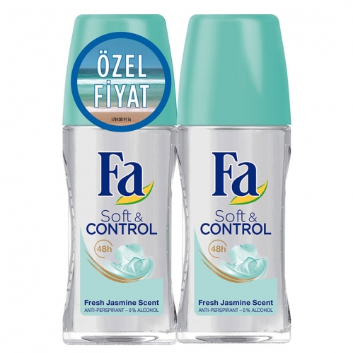 Fa - FA Roll-On 2'li Soft & Control 50 ml+ 50 ml