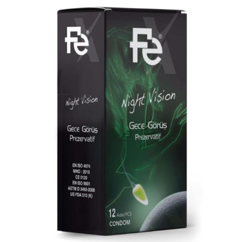 FE Ürünleri - Fe Night Vision Prezervatif 12li Kutu