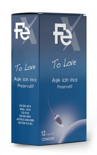 FE Ürünleri - FE Prezervatif Aşk İçin 12li Kutu