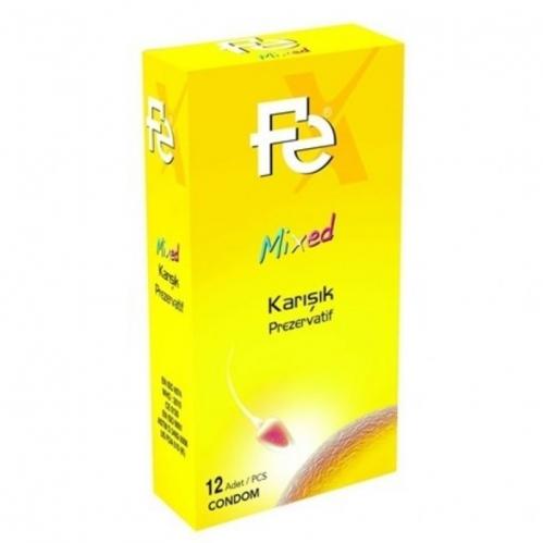 FE Ürünleri - FE Prezervatif Karışık 12li Kutu