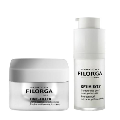 Filorga Time Filler(kırışıklık belirtilerine karşı bakım kremi) 50 ml, Optim-Eyes (Göz Çevresi Kremi) 15 ml - Thumbnail
