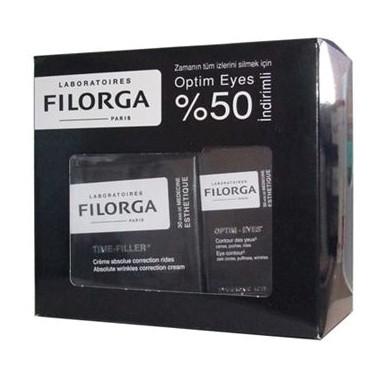 Filorga Ürünleri - Filorga Time Filler(kırışıklık belirtilerine karşı bakım kremi) 50 ml, Optim-Eyes (Göz Çevresi Kremi) 15 ml