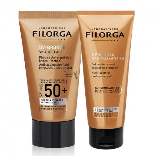 Filorga Ürünleri - Filorga UV-Bronze Visage Anti-Ageing BRONZE KIT