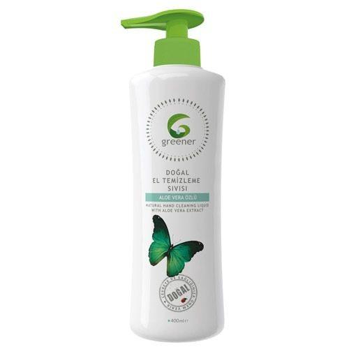 Greener - Greener Aloe Vera Özlü Doğal El Temizleme Sıvısı 400ml