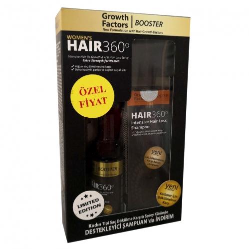 Hair 360 - Hair 360 Women s GF Booster Kadın Tipi Saç Dökülmesine Karşı SET