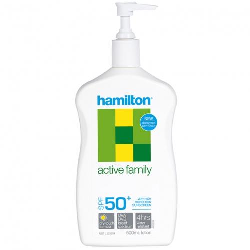 Hamilton Güneş Ürünleri - Hamilton Active Family SPF50+ Losyon 500ml