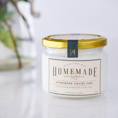 Homemade Aromaterapi - Homemade Aromaterapi Soğuk Sıkım Hindistan Cevizi Yağı 250 gr