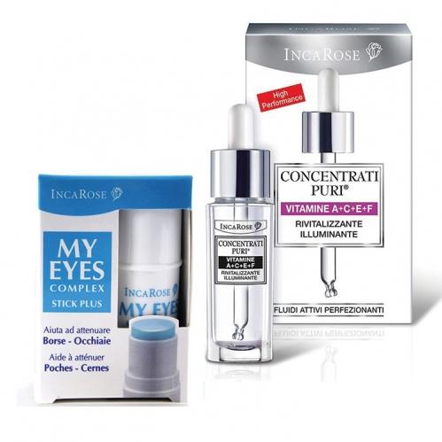 Incarose - Incarose A+C+E+F Vitamins 15ml + My Eyes Complex Stick Plus 5ml Kofre